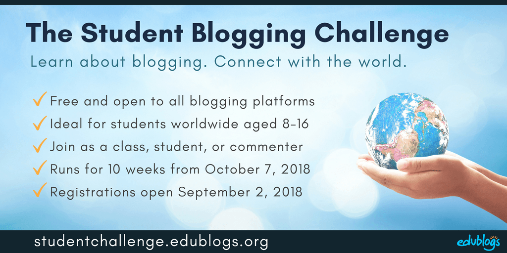 Student Blogging Challenge starts October 7