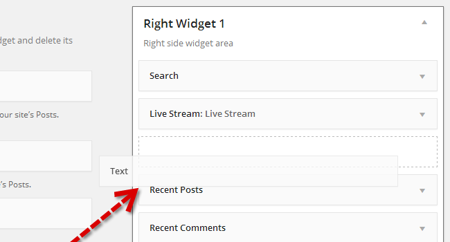 Add Text Widget