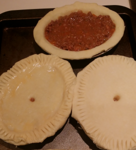 Home made meat pies