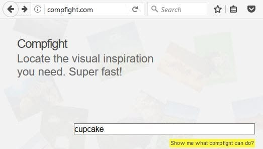 Search on Compfight website