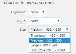 Select image size