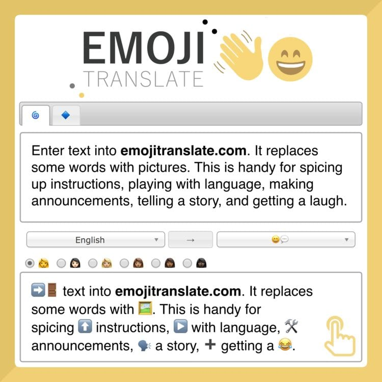 Emoji Translate tool Tony Vincent