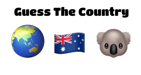 Globe flag and koala -- guess the country