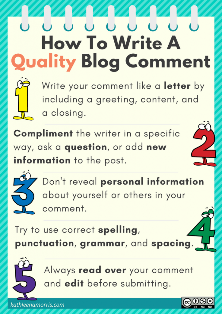 How to write a quality comment Kathleen Morris