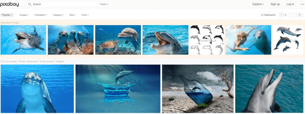Pixabay ad example