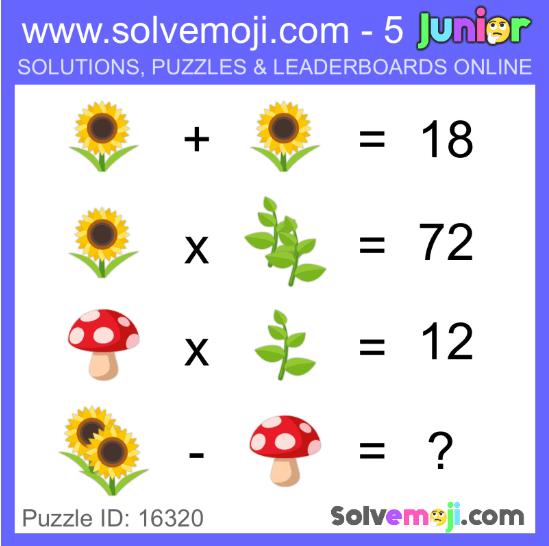 Solvemoji puzzle -- nature
