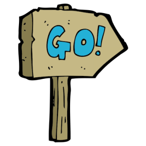 sign saying go