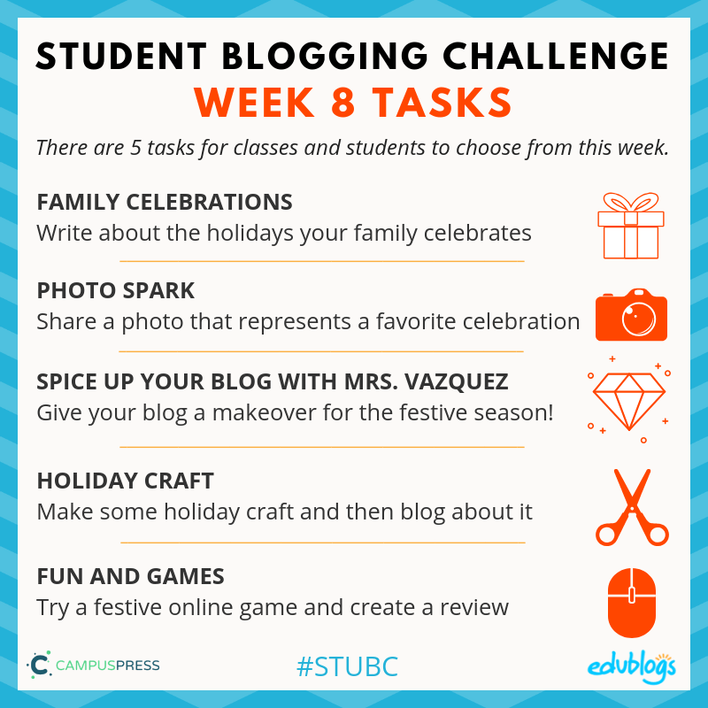 Week 8 Tasks STUBC Celebrations