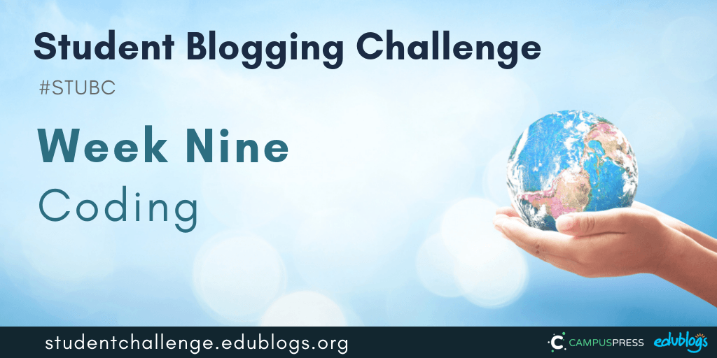 Let's have some fun with coding for week nine of the Student Blogging Challenge