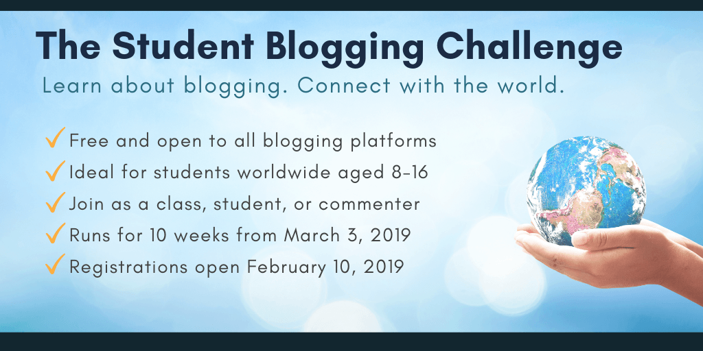 Student Blogging Challenge Twitter 2019 begins March 3