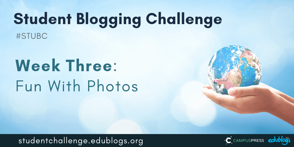 Week three of the Student Blogging Challenge is all about images and Creative Commons. We'll learn how to use images easily, legally, and safely.