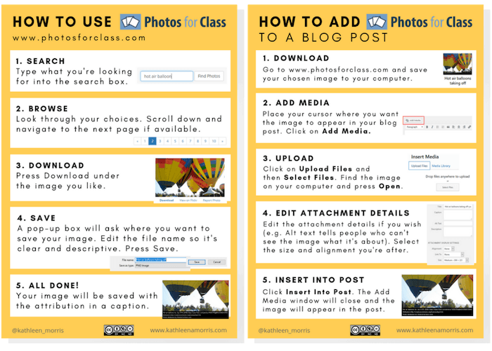 Find out how to use Photos For Class to get free images for the classroom