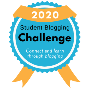 Badge for 2020 Participants Student Blogging Challenge