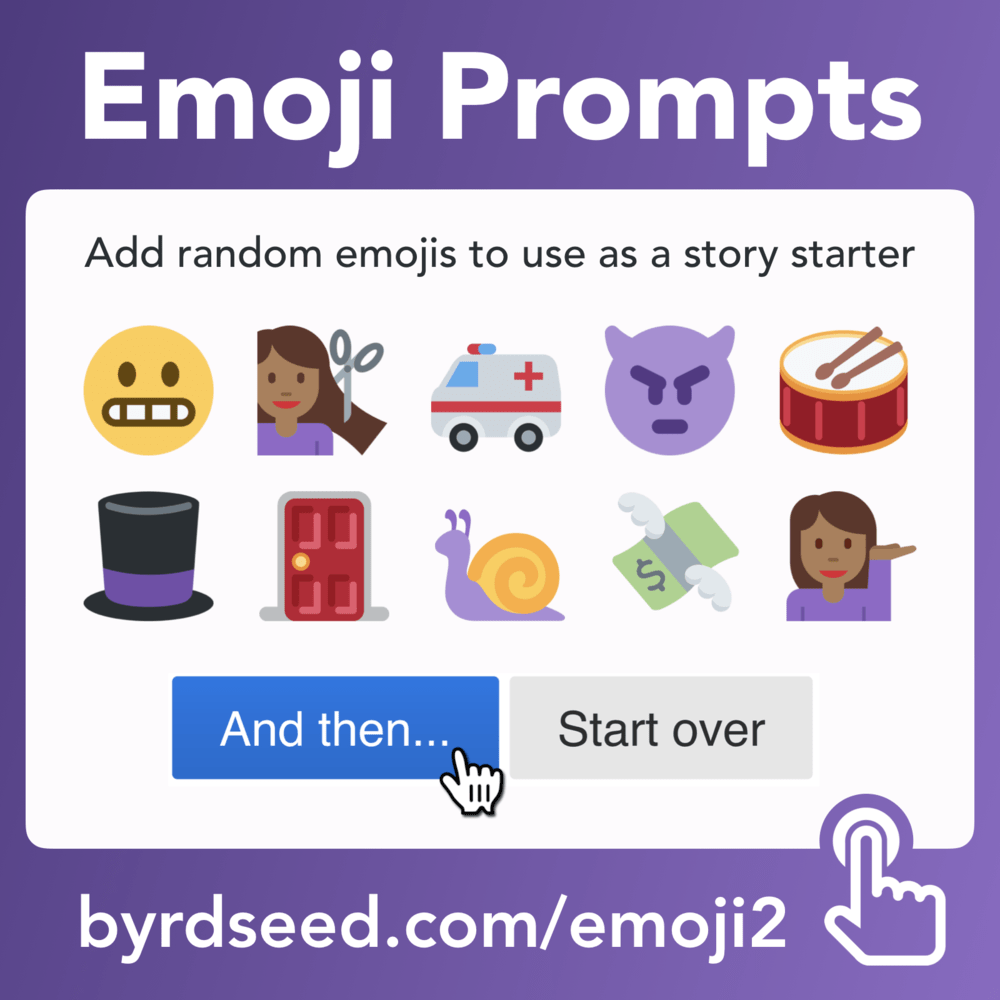 Tony Vincent Emoji Prompt Story generator